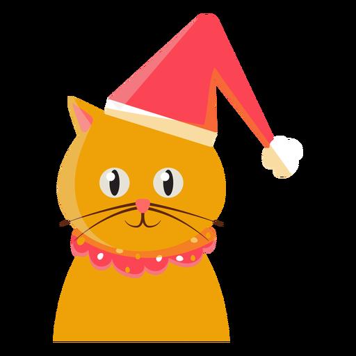 Icono de gato sombrero de navidad