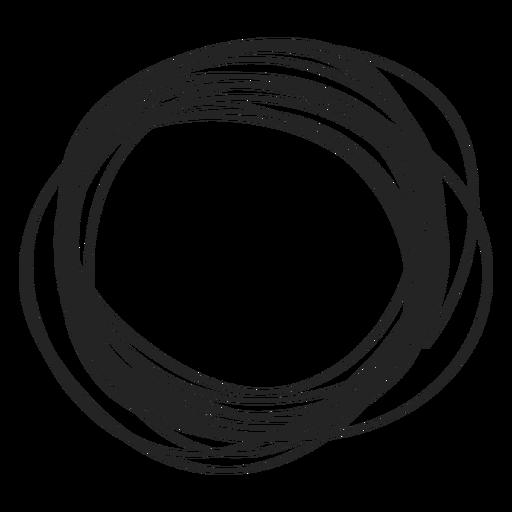 Circle doodle Transparent PNG