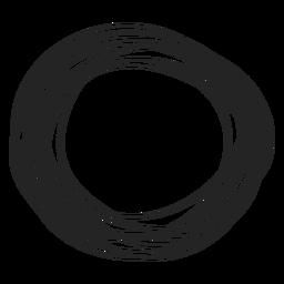 Elemento de doodle de círculo