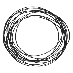 Elemento do doodle do círculo