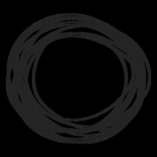Elemento de círculo doodle Transparent PNG