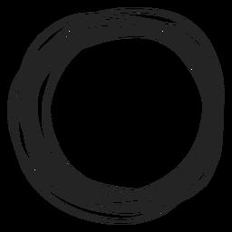 Círculo elemento de garabato
