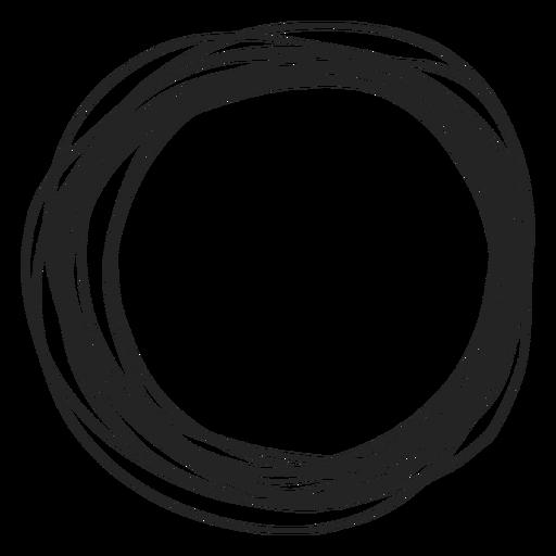 Elemento de garabato circular Transparent PNG