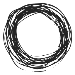 Circle scribble icon