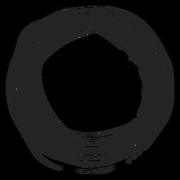 Icono de círculo de garabatos