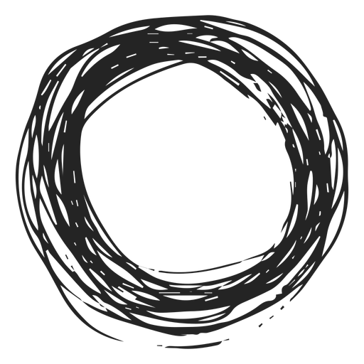 Ícone de rabisco círculo Transparent PNG
