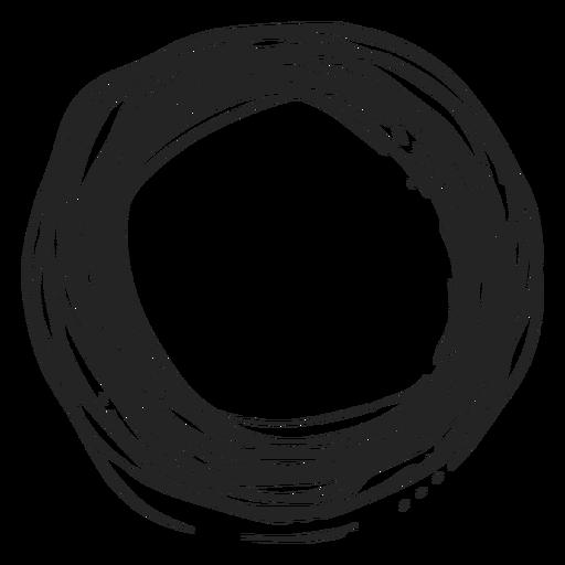 Icono de círculo garabato