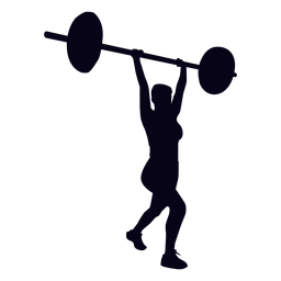 Clean and jerk crossfit silhouette