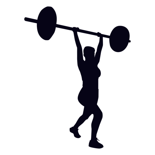 Clean and jerk crossfit silhouette Transparent PNG