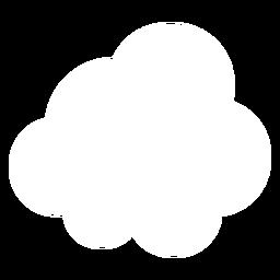 Ícone plano de nuvem