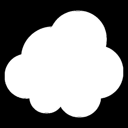 Icono de nube plana