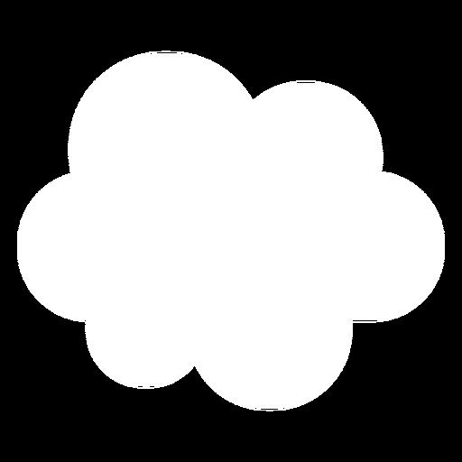 Icono plano de previsión de nubes Transparent PNG