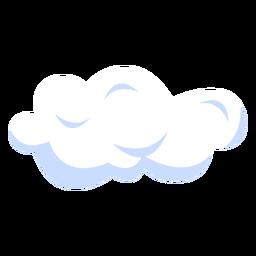 Ilustração de previsão de nuvem
