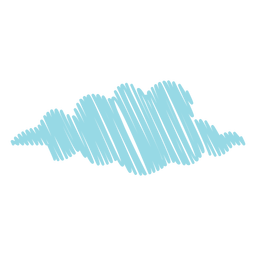Cloud forecast scribble icon
