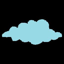 Ícone de rabisco de previsão da nuvem