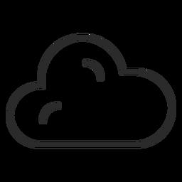 Icono de trazo de pronóstico de nube