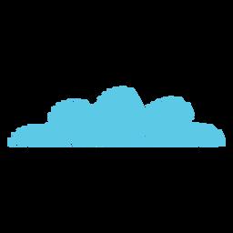 Ícone de rabisco de meteorologia de nuvem