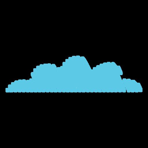 Icono de garabato de meteorología en la nube