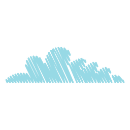 Cloud scribble icon