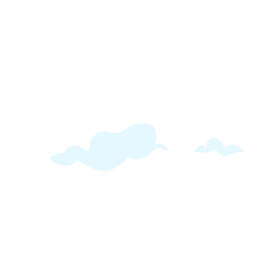Cloud sky design element
