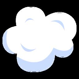 Ilustración del cielo de nubes