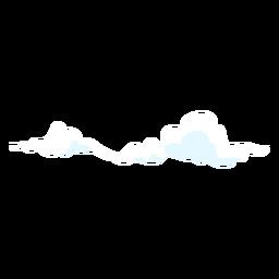 Elemento de diseño de clima en la nube