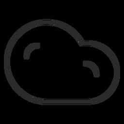 Ícone de traçado de previsão de nuvens