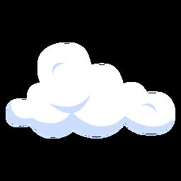 Ilustração do tempo de nuvem