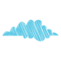 Ícone de rabisco de clima na nuvem