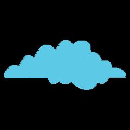 Icono de garabato del tiempo en la nube