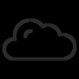 Icono de trazo de clima en la nube