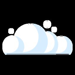 Nuvem de ícone de previsão de nuvens