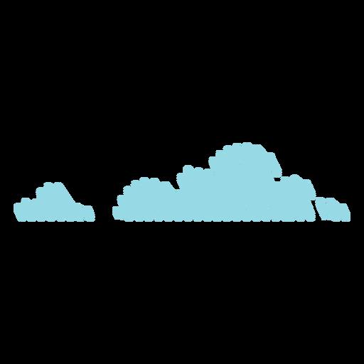 Icono de garabato de nubes Transparent PNG