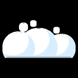 Icono del clima de nubes