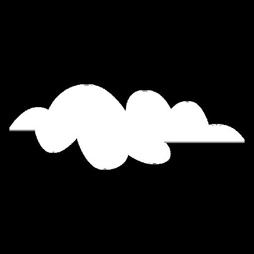 Pronóstico de nubes planas Transparent PNG