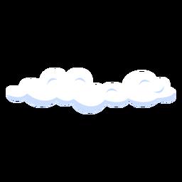 Ilustración de pronóstico nublado