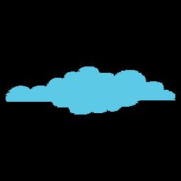 Ícone de rabisco de previsão nublada