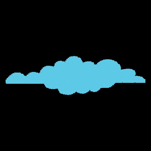 Icono de garabato de pronóstico nublado