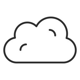 Cloudy forecast stroke icon