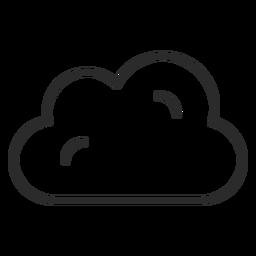 Icono de trazo de pronóstico nublado