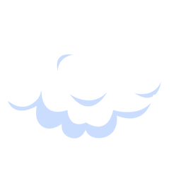 Ilustração do céu nublado