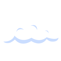 Cloudy weather forecast illustration