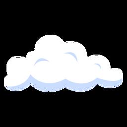 Ilustración de pronóstico de tiempo nublado
