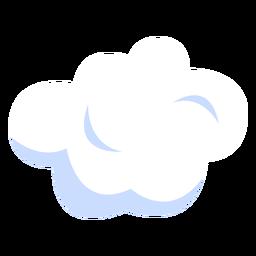 Ilustración del tiempo nublado