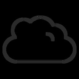 Icono de trazo de tiempo nublado
