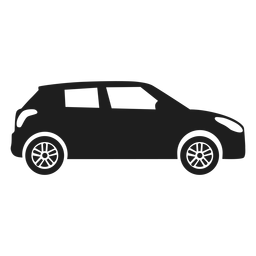 Compact car side view silhouette