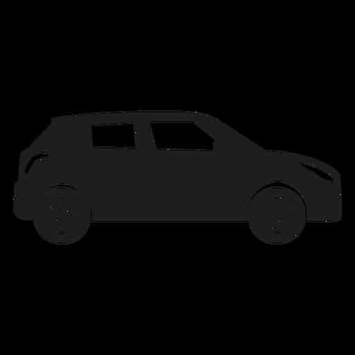 Silueta compacta de la vista lateral del coche Transparent PNG