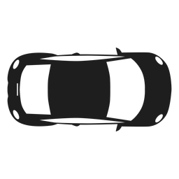 Compact car top view silhouette