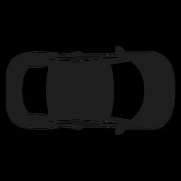 Silhueta de vista superior de carro compacto
