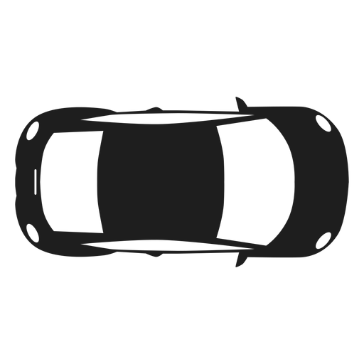 Compact car top view silhouette Transparent PNG